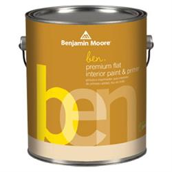 Ben Waterborne Interior Paint Flat W625
